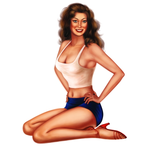 Vintage pin up version 2