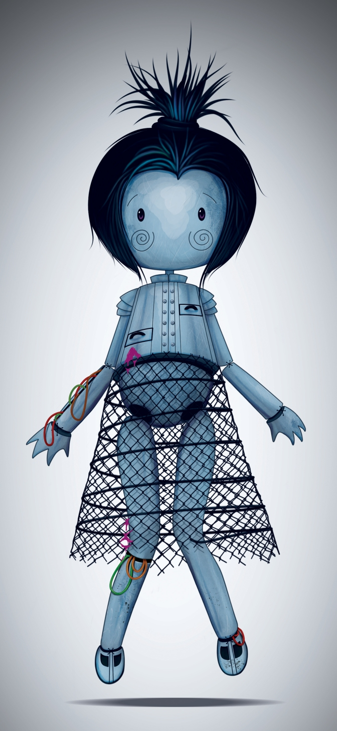 Digital painting – doll